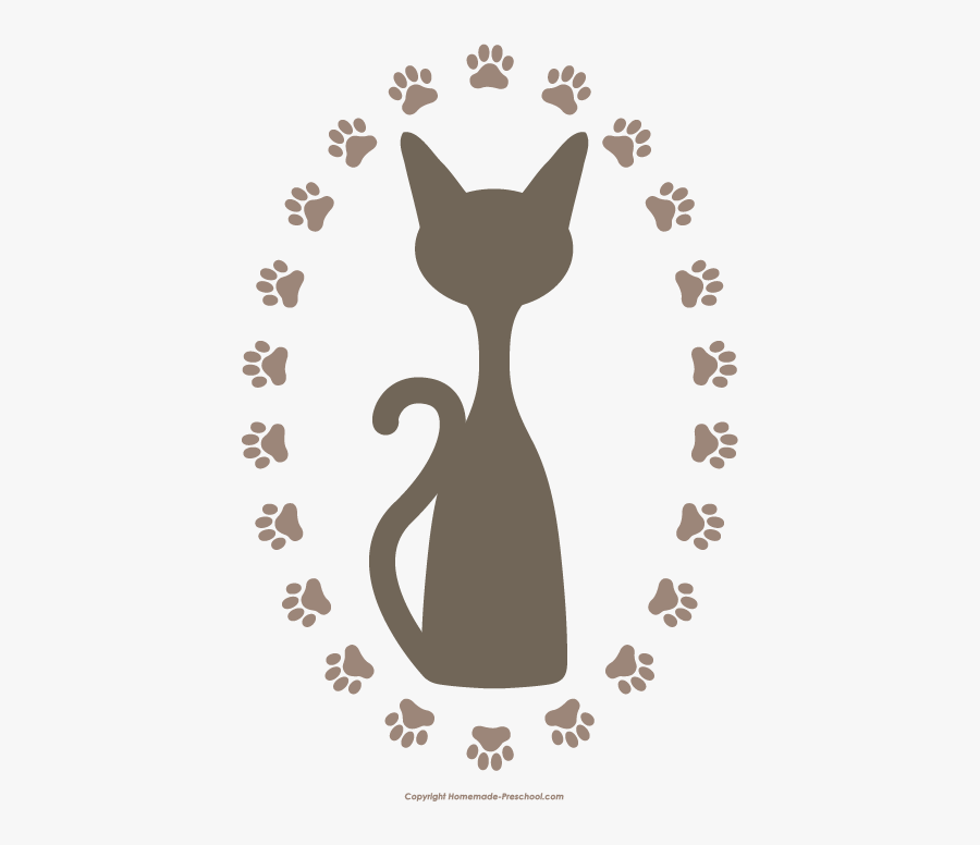 Cat Paw Print Clip Art Png, Transparent Clipart