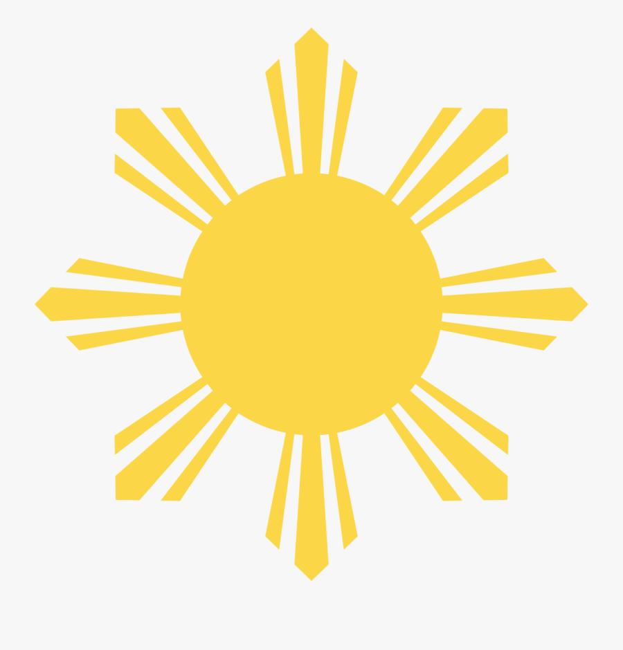 Vexilla Mundi - Philippine Flag Sun Face, Transparent Clipart