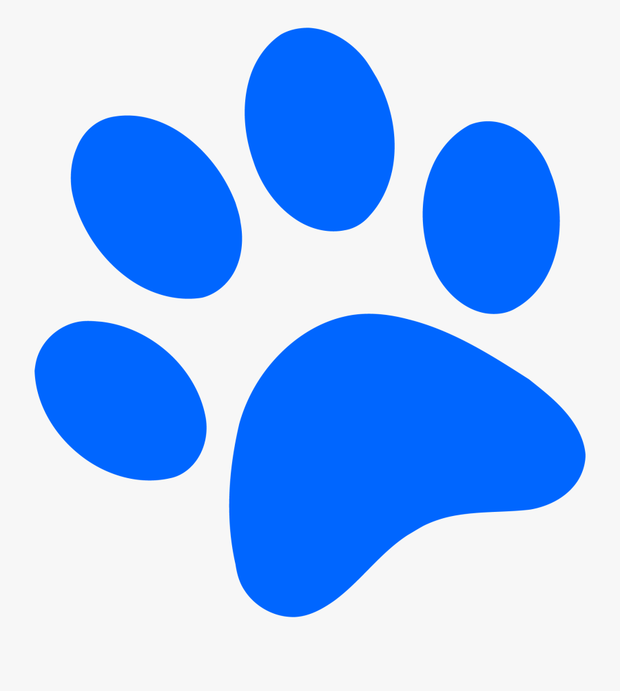 Dog Paw Print Blue , Free Transparent Clipart