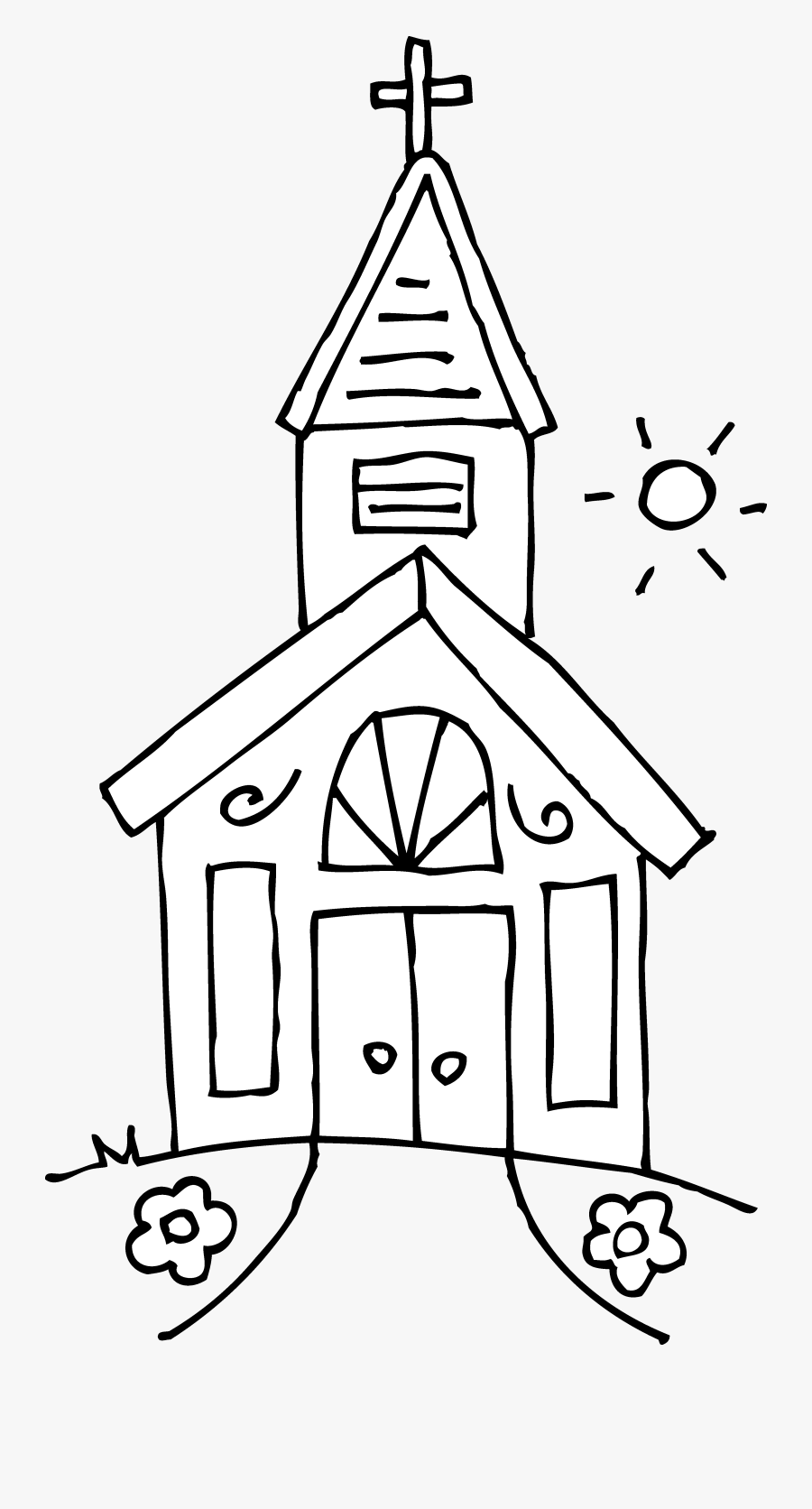 Church Clipart On Clip Art Free And Church 2 Clipartbold - Church Clipart Black And White, Transparent Clipart