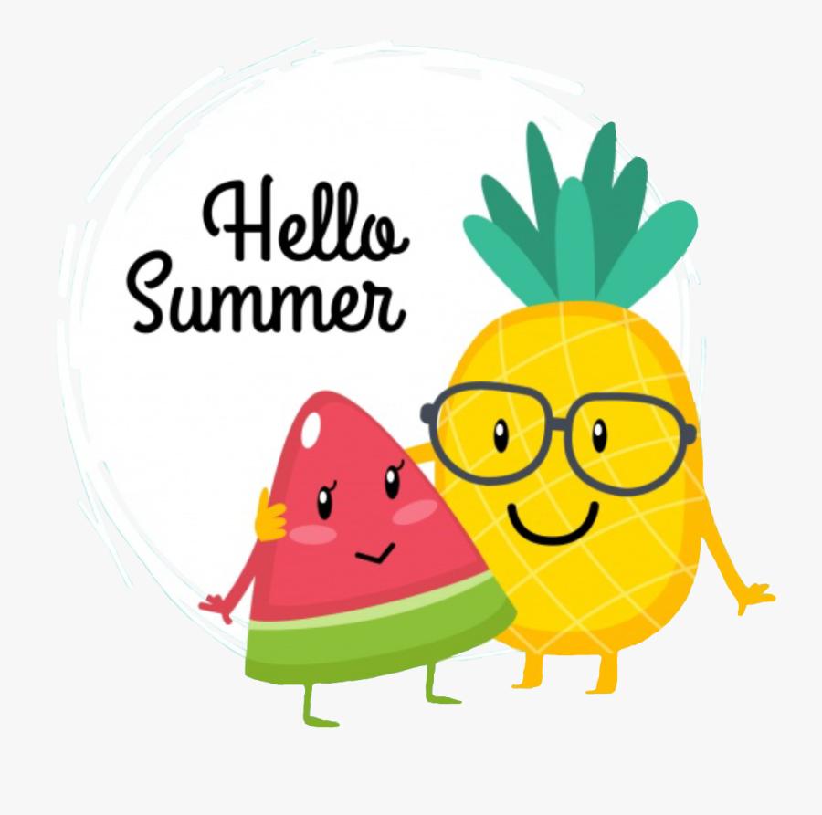 Watermelon Clipart Hello Summer - Summer Watermelon And Pineapple, Transparent Clipart