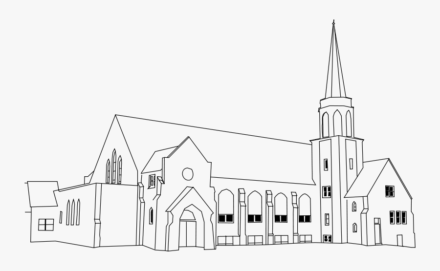 Church - Iglesia Ni Cristo Church Sketch, Transparent Clipart