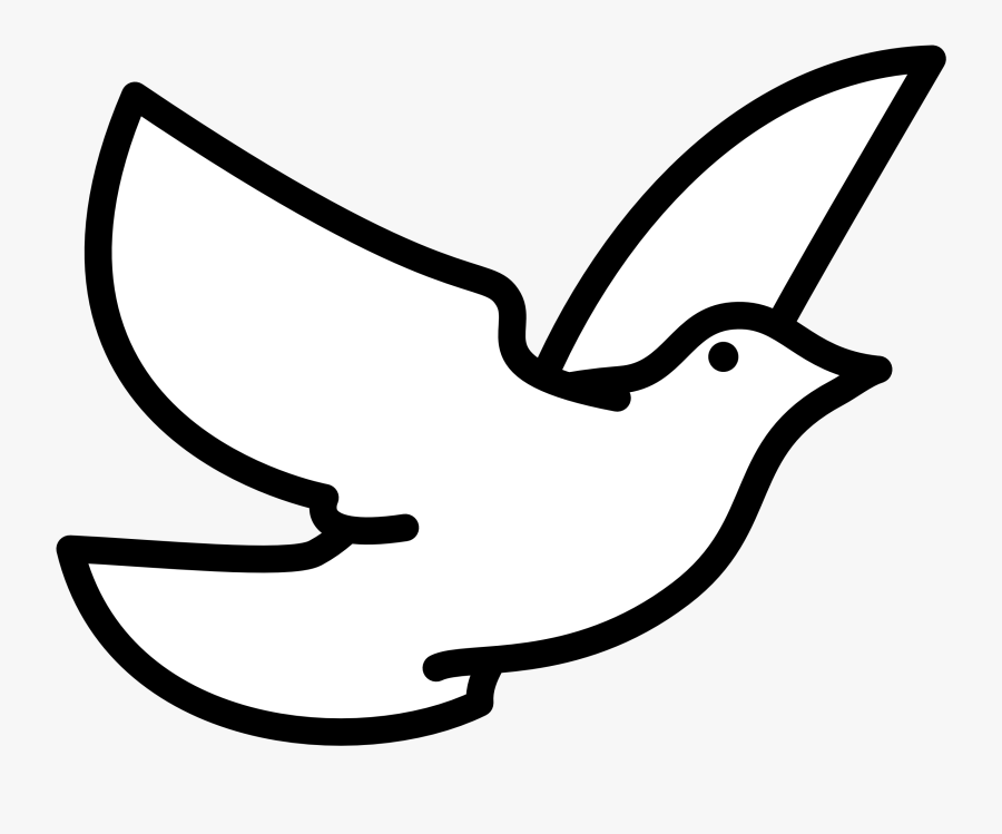 Bird Clipart Black And White Free Clipart Images - Flying Bird Easy Drawing, Transparent Clipart
