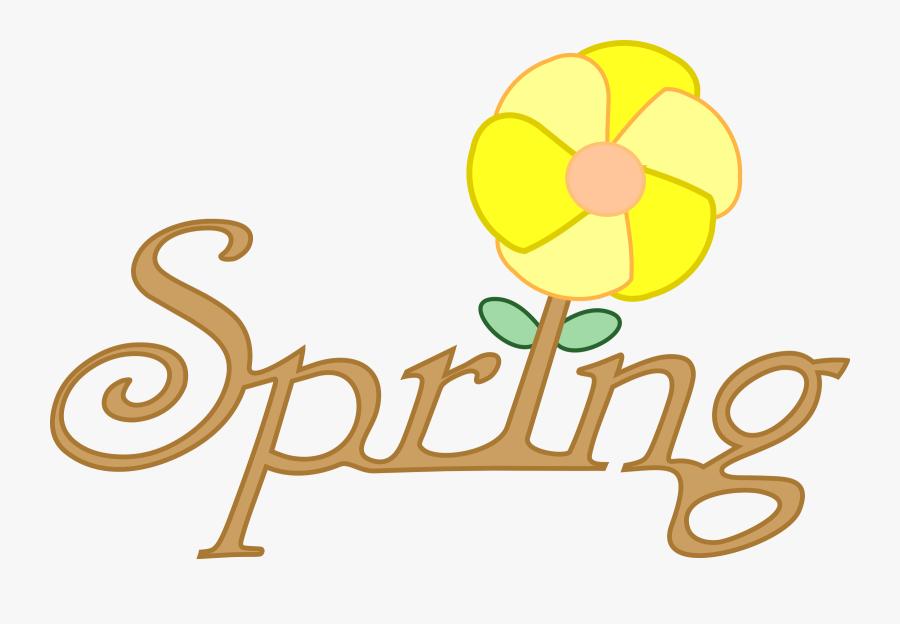 Spring Clipart, Vector Clip Art Online, Royalty Free - Spring Season In Cartoon, Transparent Clipart