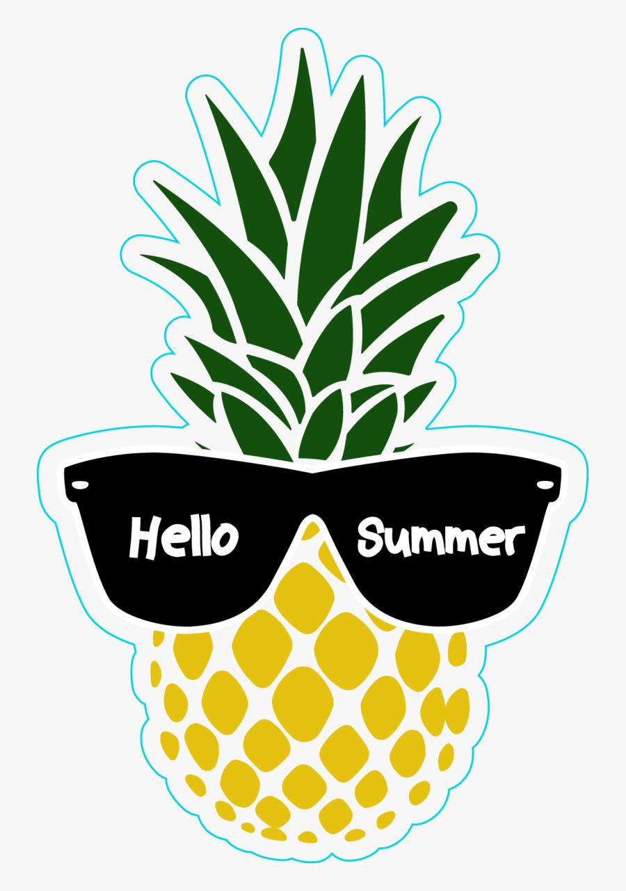 Pineapple Png Summer - Summer Pineapple Clipart, Transparent Clipart