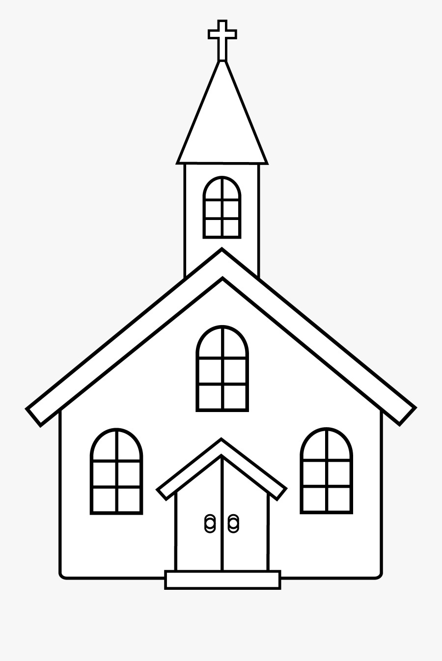 Thumb Image - Church Building Clipart Black And White, Transparent Clipart