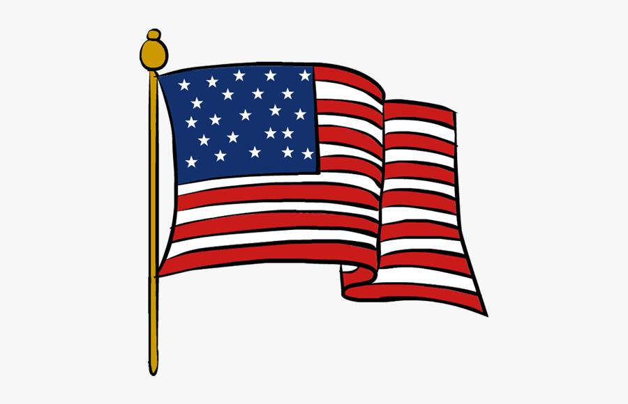 Clipart Veterans Day Flag - Transparent American Flag Clip Art, Transparent Clipart