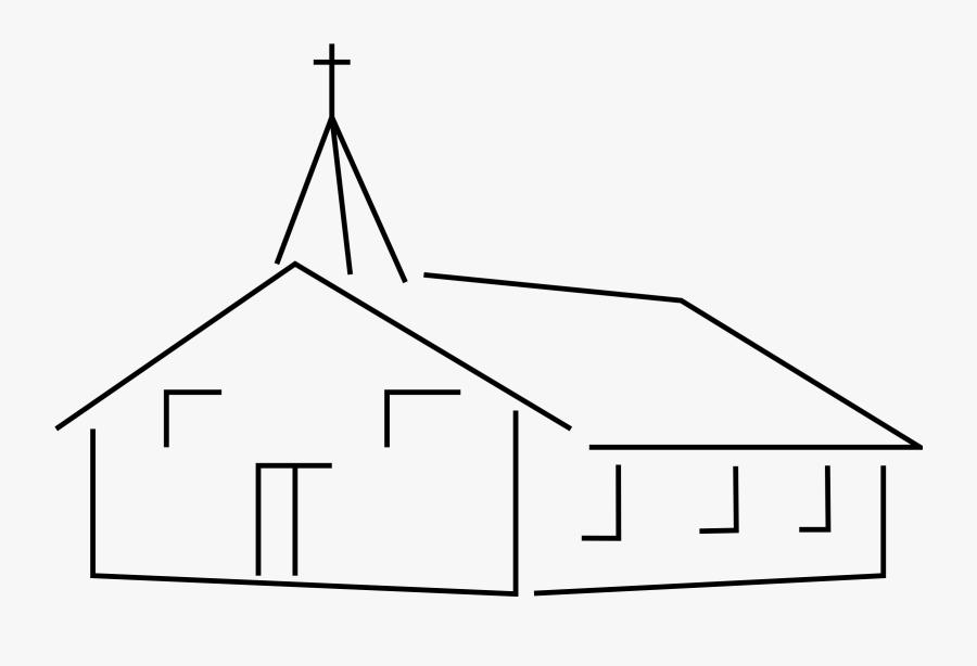 Line Art,shed,triangle - Church Clip Art, Transparent Clipart
