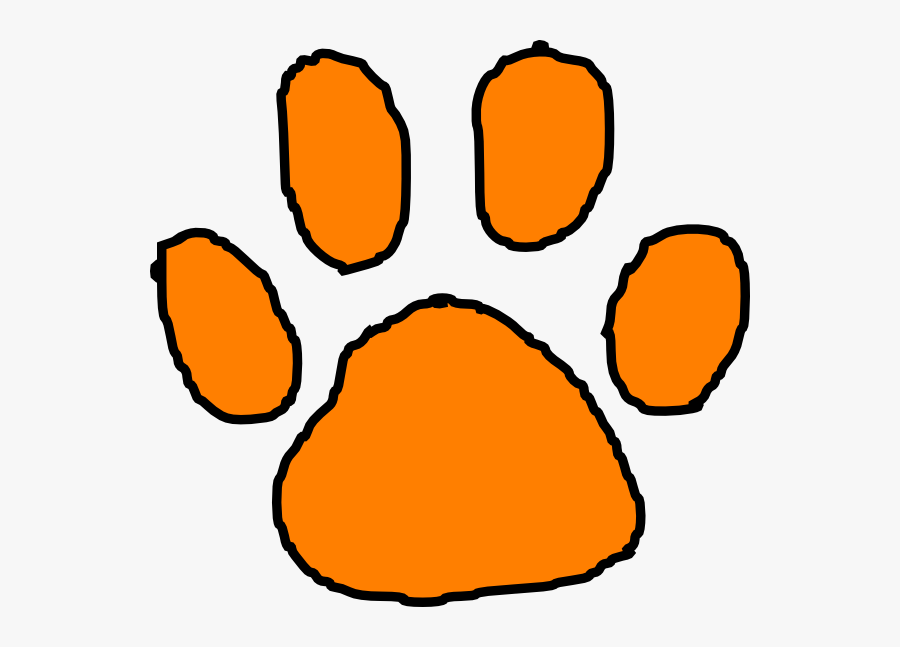 Clip Art Tiger Paw Print, Transparent Clipart