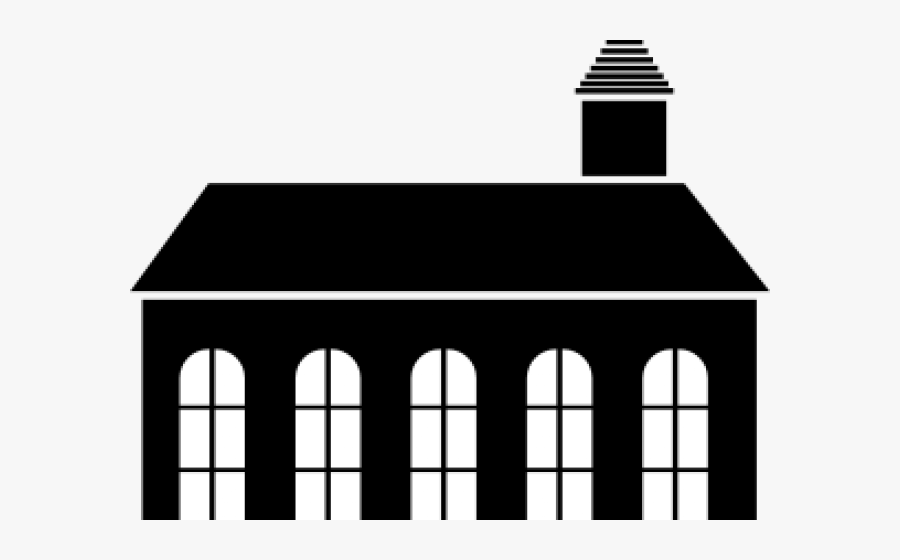 Silhouette Of A Church Building, Transparent Clipart