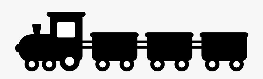 Black Train Silhouette - Train Silhouette Clip Art, Transparent Clipart