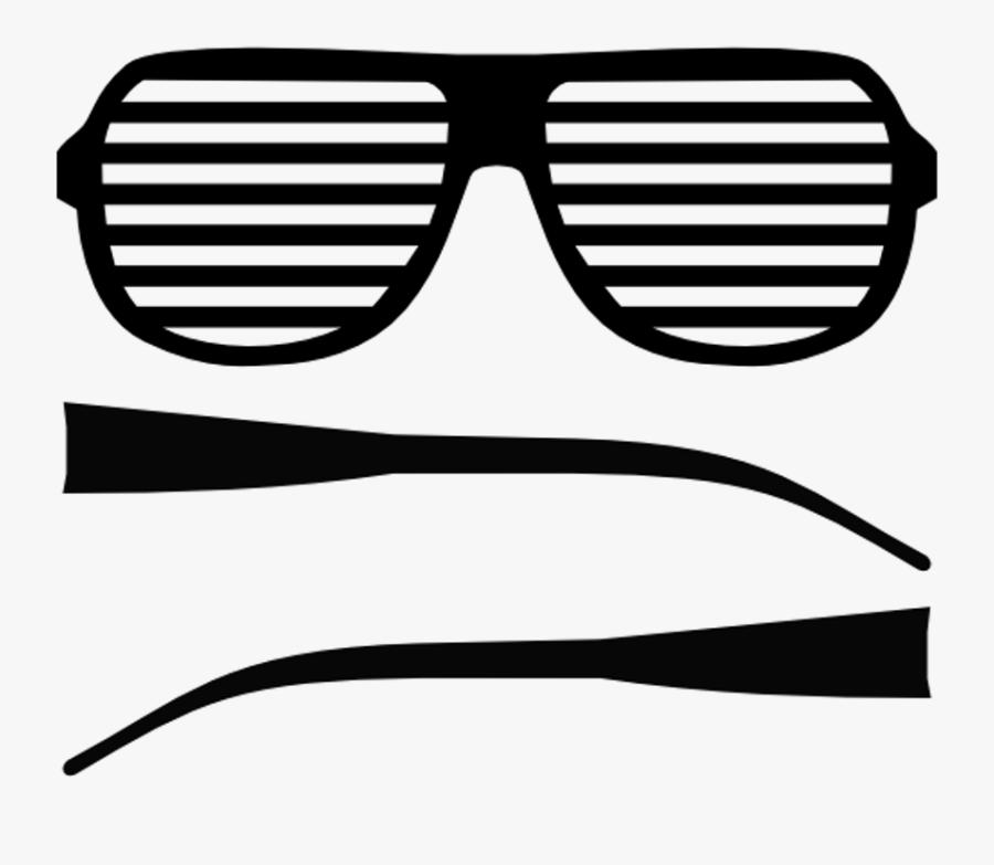 Green Sunglasses Clipart - Transparent Shutter Shades, Transparent Clipart