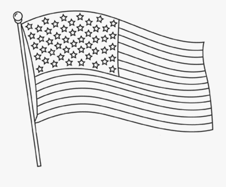 Thumb Image - American Flag Clipart Black And White, Transparent Clipart