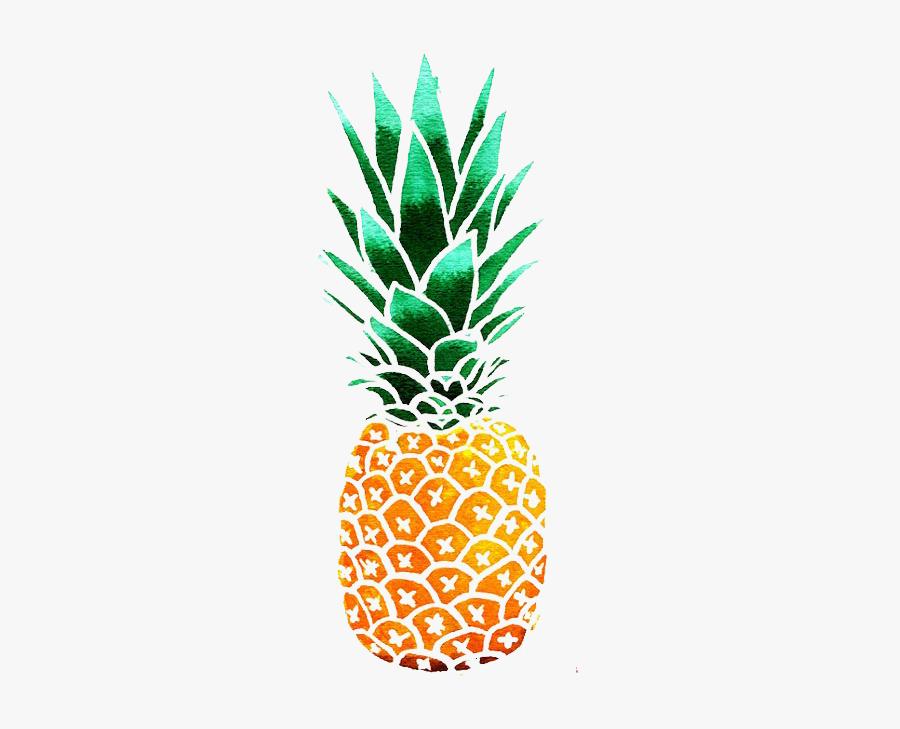 Clip Art Pineapple Watercolor - Clipart Pineapples, Transparent Clipart