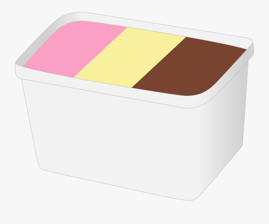 Ice Cream, Cream, Dessert, Ice, Food, Cold, Vanilla - Big Box Of Ice Cream, Transparent Clipart