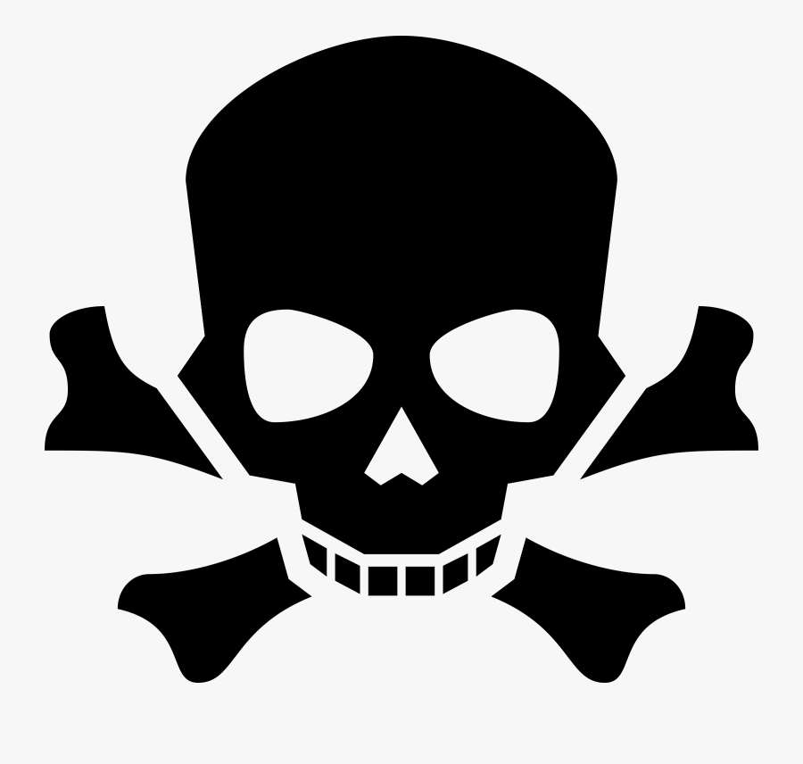 Free Vector Skulls Clip Art Image - Danger Symbol Skull Png, Transparent Clipart