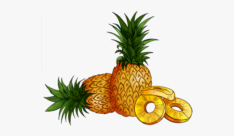 Clipart Banner Pineapple - Transparent Background Pineapple Cartoon Png, Transparent Clipart