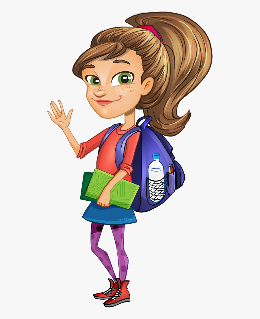 Girl Student Clipart - Girl Student Clipart Png, Transparent Clipart