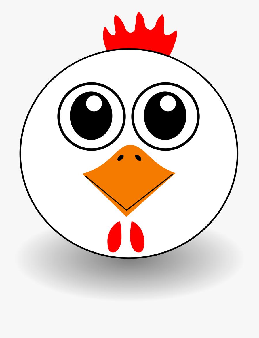 Chicken Face - - Chicken Face Clip Art, Transparent Clipart