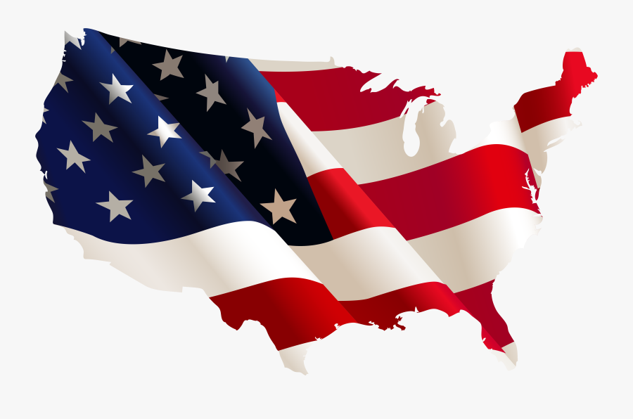 American Flag Veterans Day Clip Art Soldier In Front - Us Flag Shape Of Country, Transparent Clipart
