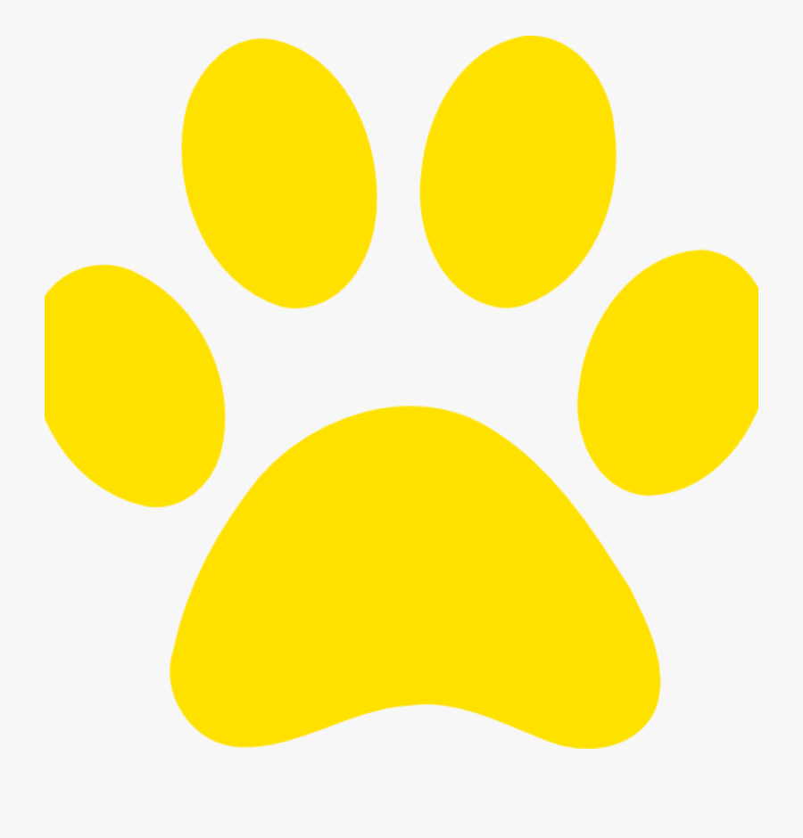 Yellow Paw Print Yellow Paw Print Clip Art At Clker - Bear Paw Print Yellow, Transparent Clipart