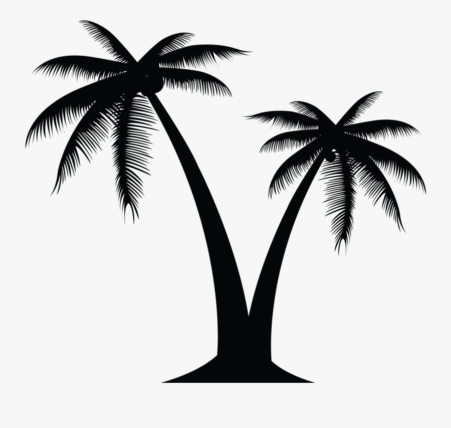 Portable Network Graphics Vector Graphics Palm Trees - Transparent Background Palm Tree Silhouette Png, Transparent Clipart