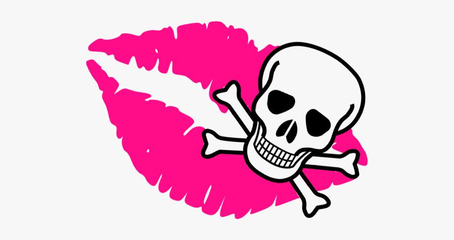 Skull Free Clip Art Vector 2 - Skull And Crossbones, Transparent Clipart