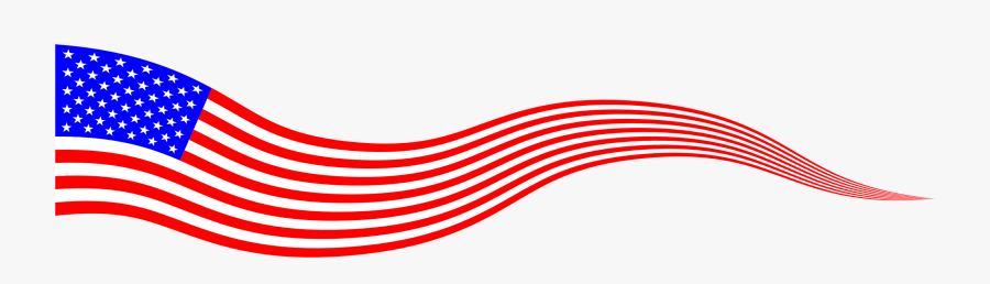 Wavy Clipart - American Flag Banner Png, Transparent Clipart
