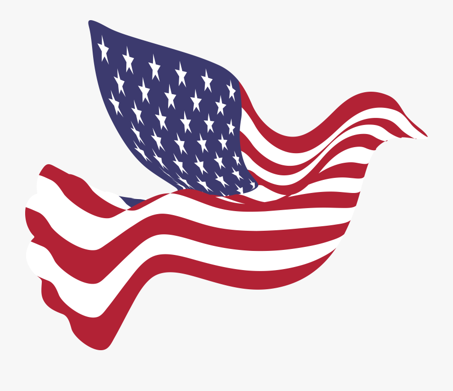 100 <free American Flag Clipart Images 【2018】 Png - Peace Dove American Flag, Transparent Clipart