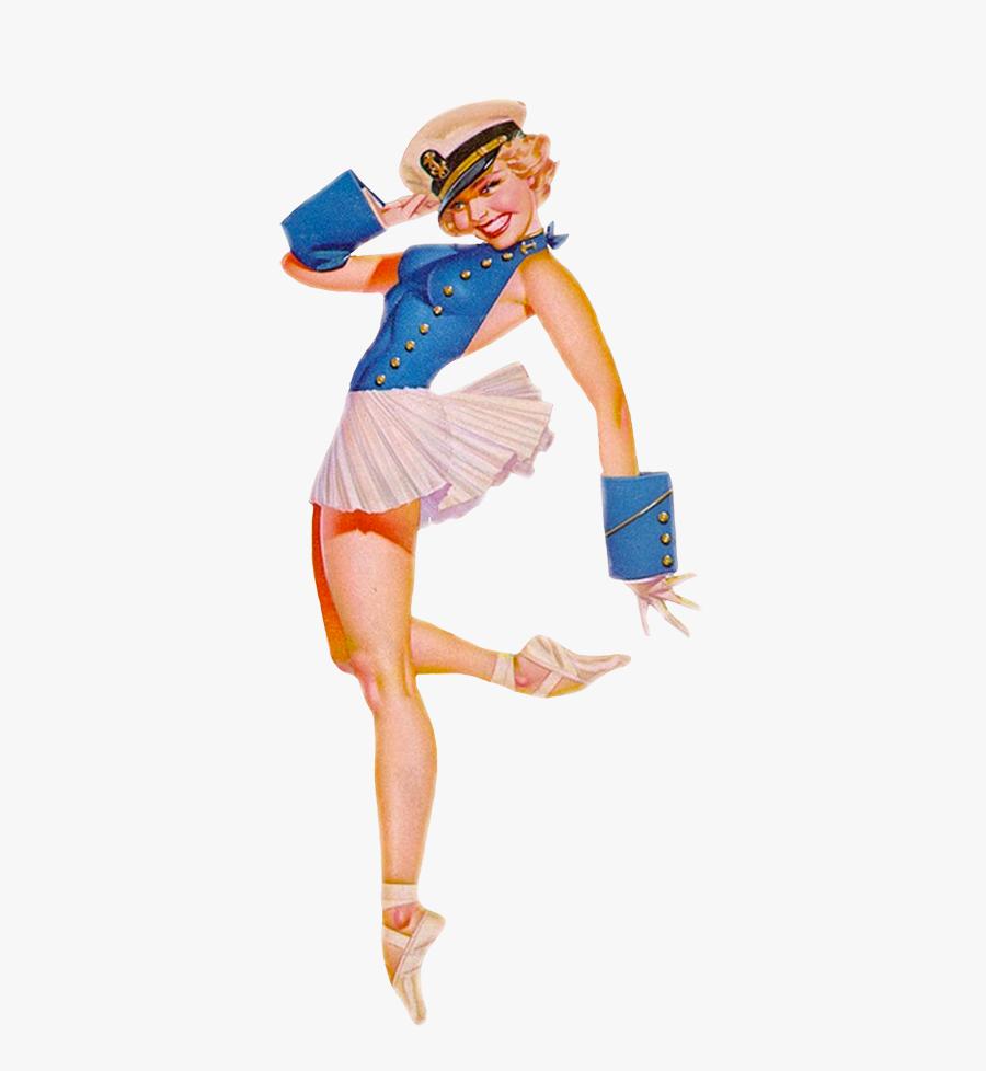 Sailor Girl Pin-up Clip Art - Pinup Png, Transparent Clipart