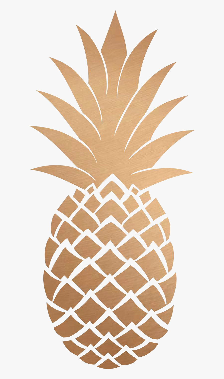 Pia Png Tumblr Gold Pineapple Transparent Background- - Gold Pineapple Transparent Background, Transparent Clipart