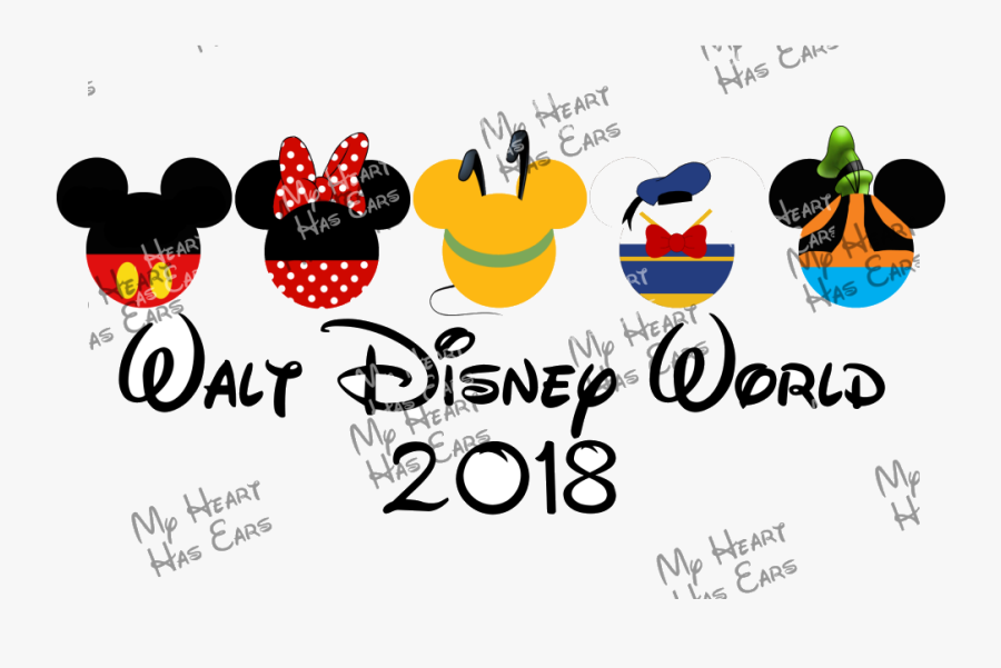 Disney World Holiday Clipart Free Best Transparent - Pluto Mickey Mouse Head, Transparent Clipart