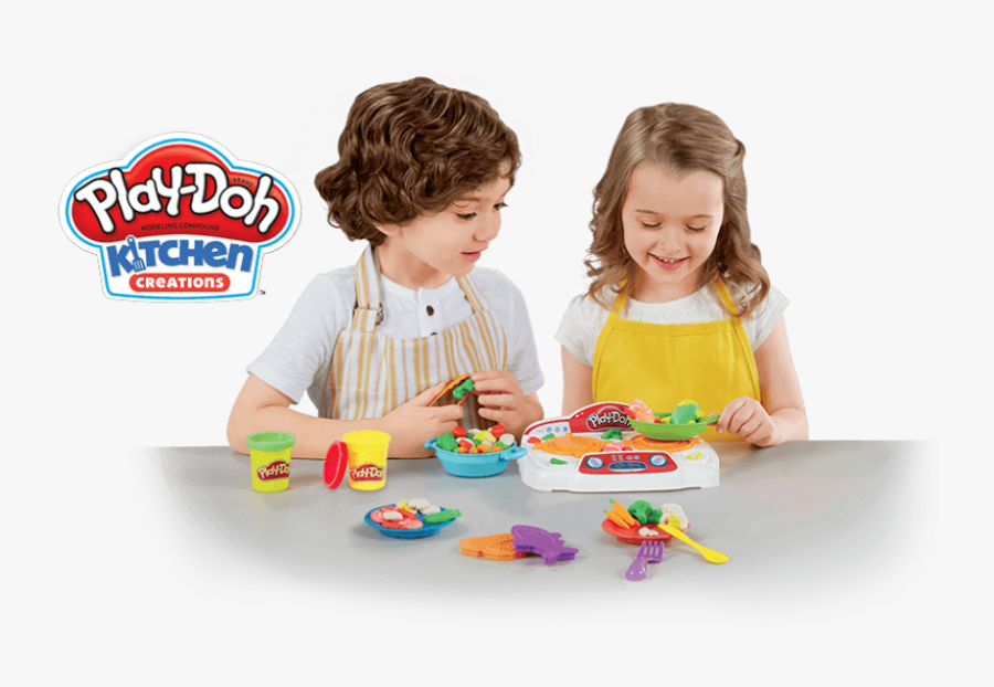 Toy,baby Playing With With Kids - Playing Play Doh, Transparent Clipart