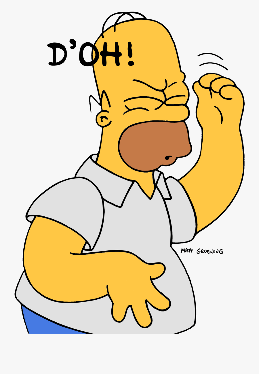 Homer That Feeling When - Homer Simpsons Doh Png, Transparent Clipart