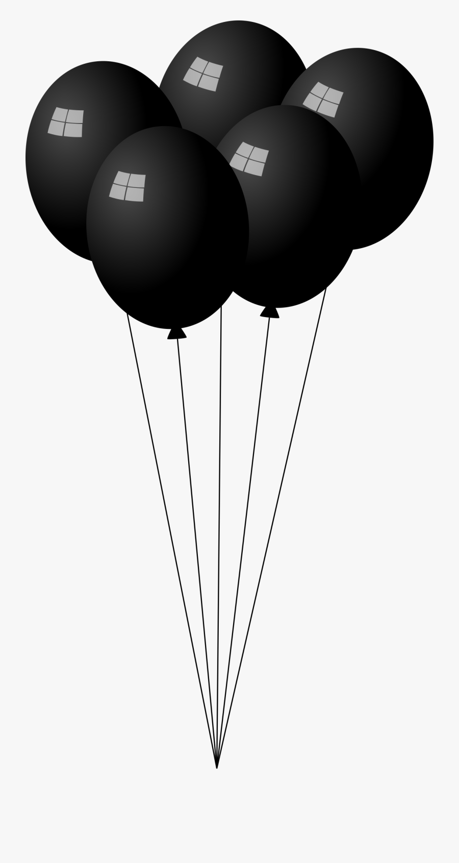 This Free Icons Png Design Of Black Balloons - Transparent Black Balloons Png, Transparent Clipart