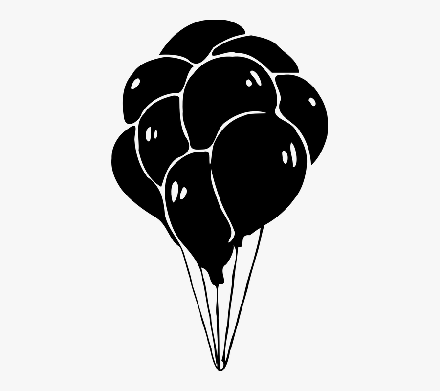 Transparent Balloons Black And White Clipart - Watercolor Elephant And Balloons, Transparent Clipart