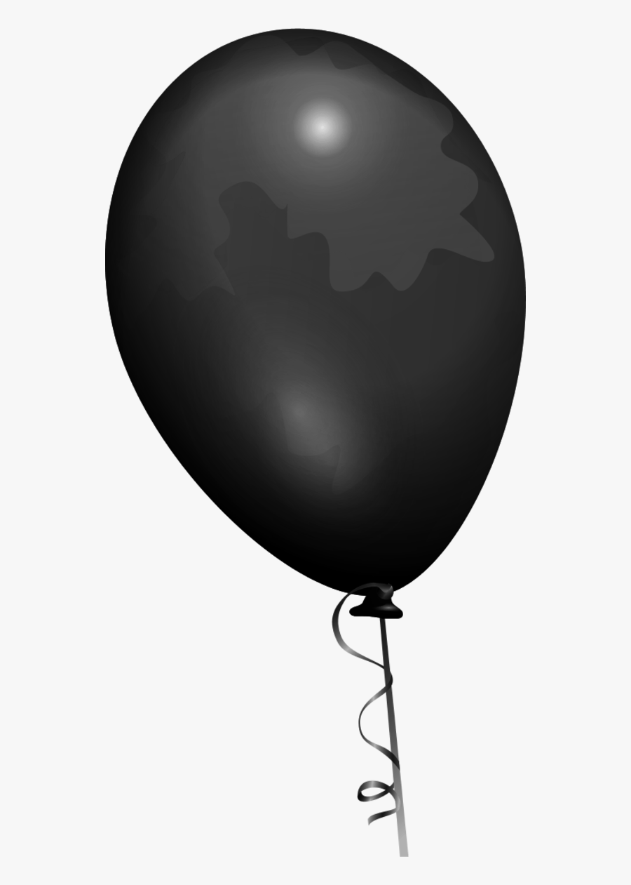 Black Shiny Baloon - Balloon Clip Art, Transparent Clipart