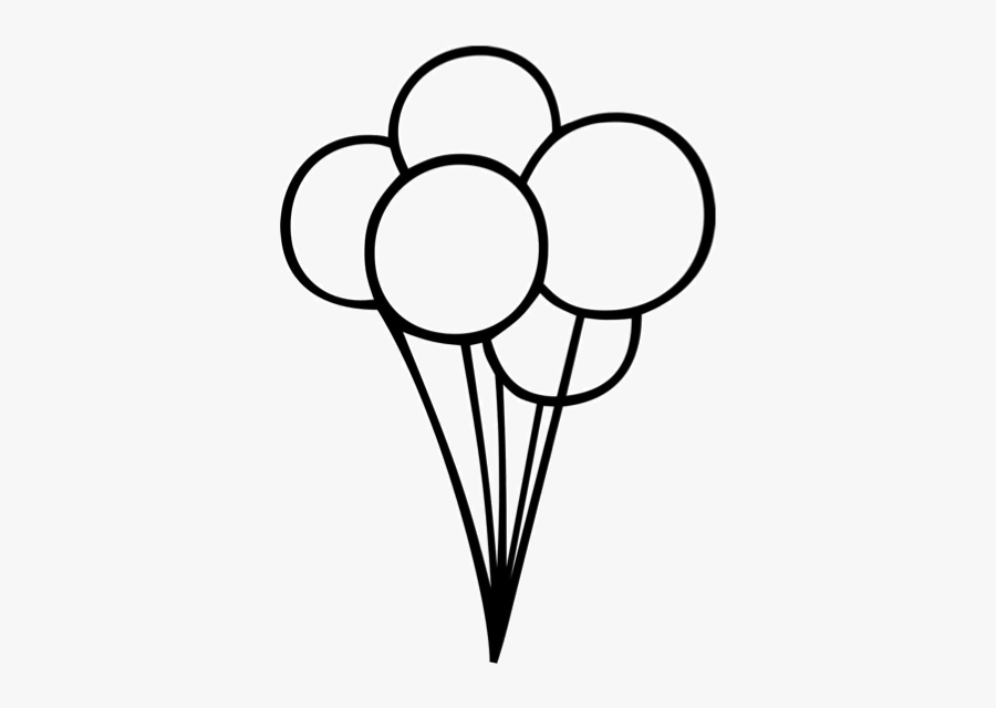 Ballon Drawing Birthday Balloon Transparent Png Clipart - Birthday Balloons Black And White, Transparent Clipart