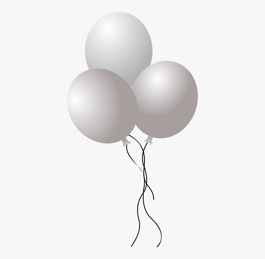Transparent Balloon Clipart Black And White - Transparent White Balloons Png, Transparent Clipart