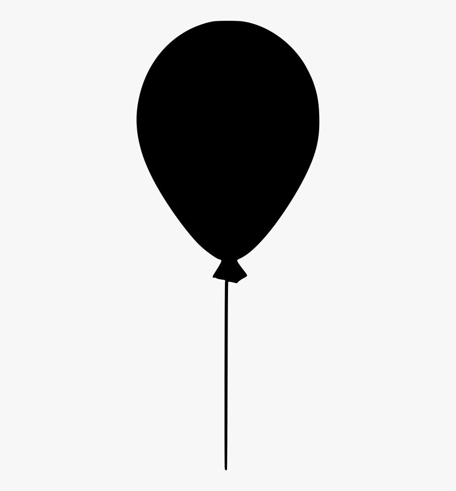 Black Balloon No Background - Balloon, Transparent Clipart