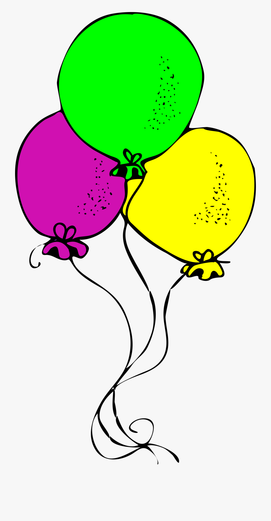 Cute Balloon Clipart Black And White, Transparent Clipart