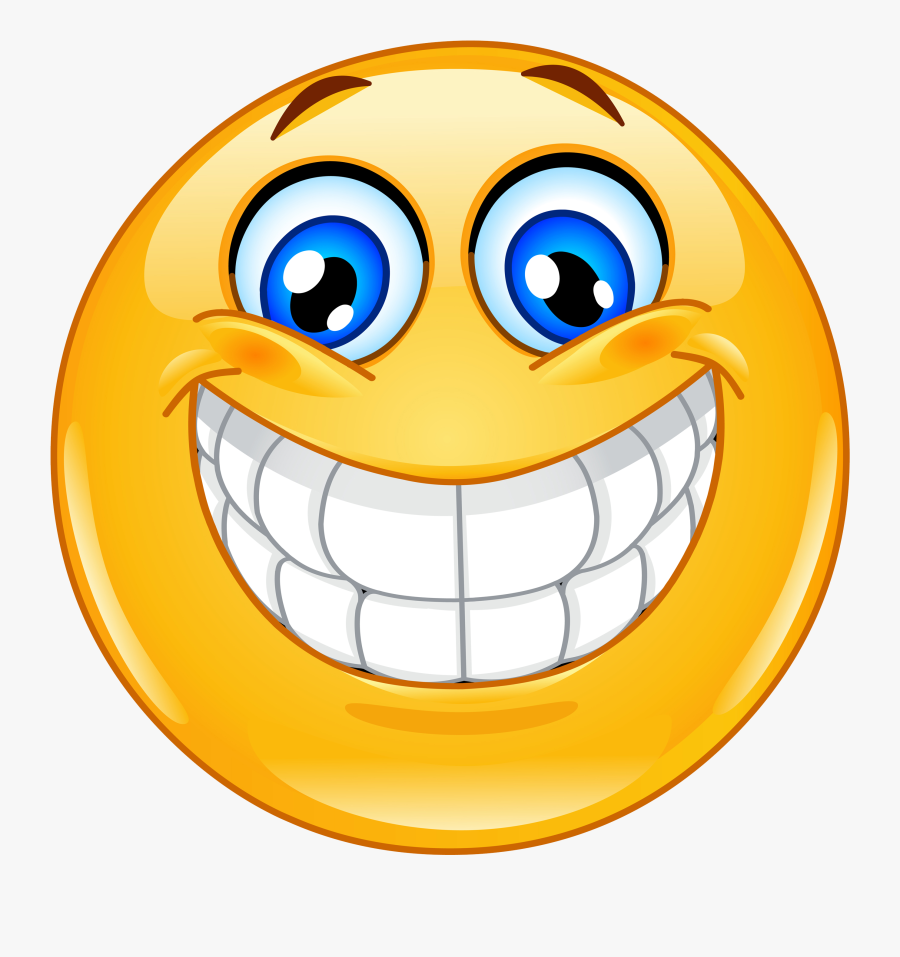 Smiley Face Big Smile Clipart , Png Download - Excited ...
