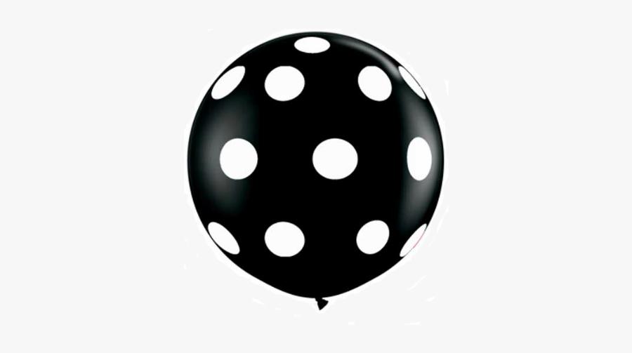 Pink Polka Dot Balloons, Transparent Clipart