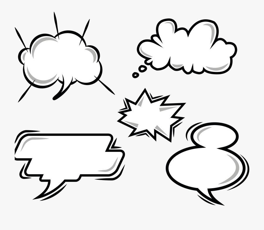 Explosion Comics Balloon Vector Speech Dialog Cartoon - Transparent Background Dialogue Box, Transparent Clipart