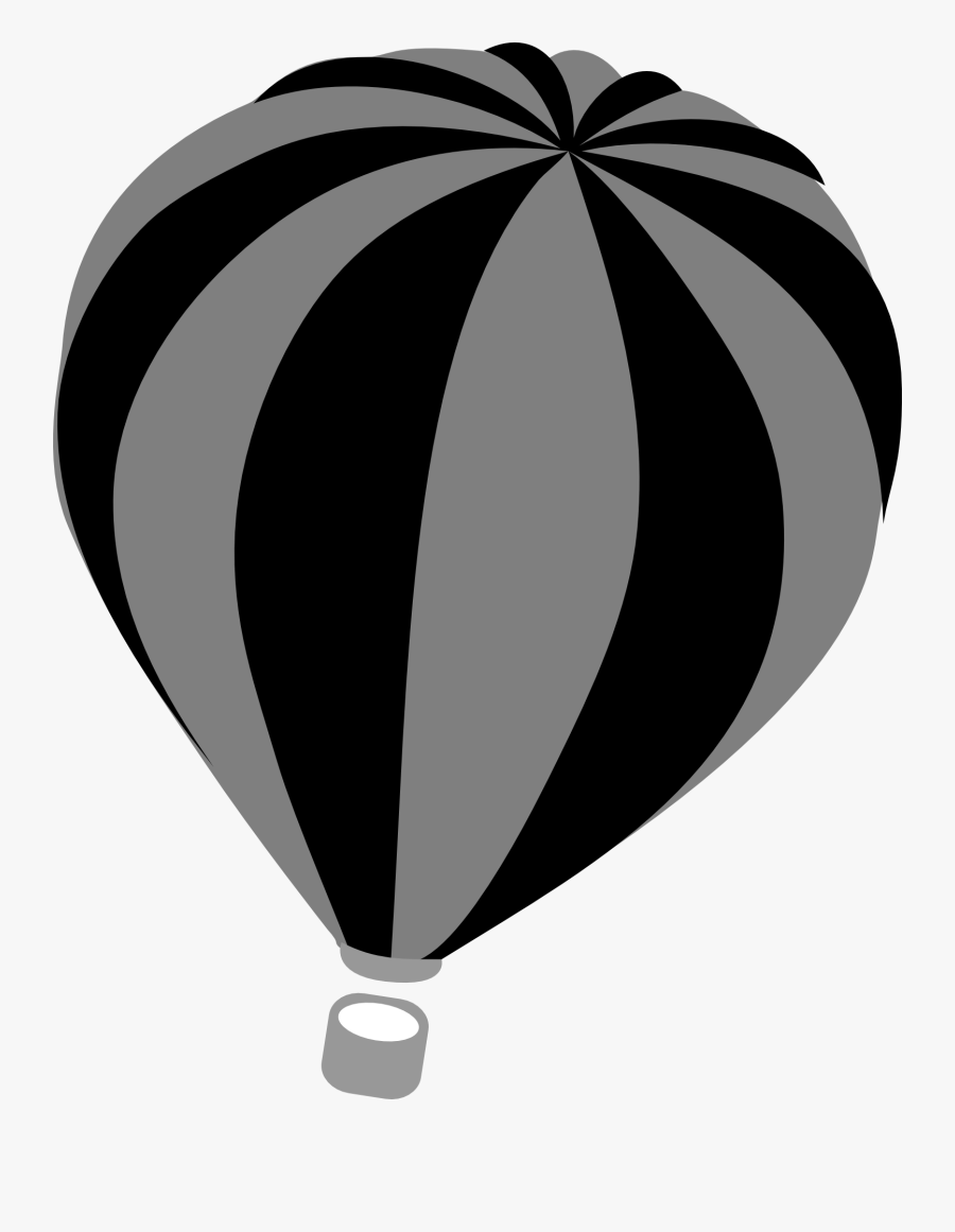 Transparent Cute Hot Air Balloon Clipart - Gray Hot Air Balloon, Transparent Clipart