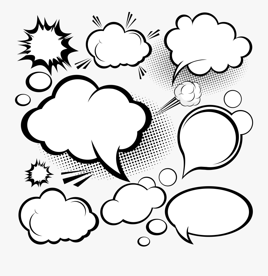 Explosion Comics Balloon Euclidean Vector Speech Dialog - Comic Style Speech Bubbles, Transparent Clipart