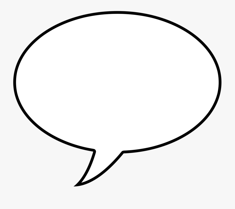 Balloon Template Icon Comic Png Image - Speech Bubble Black Background, Transparent Clipart