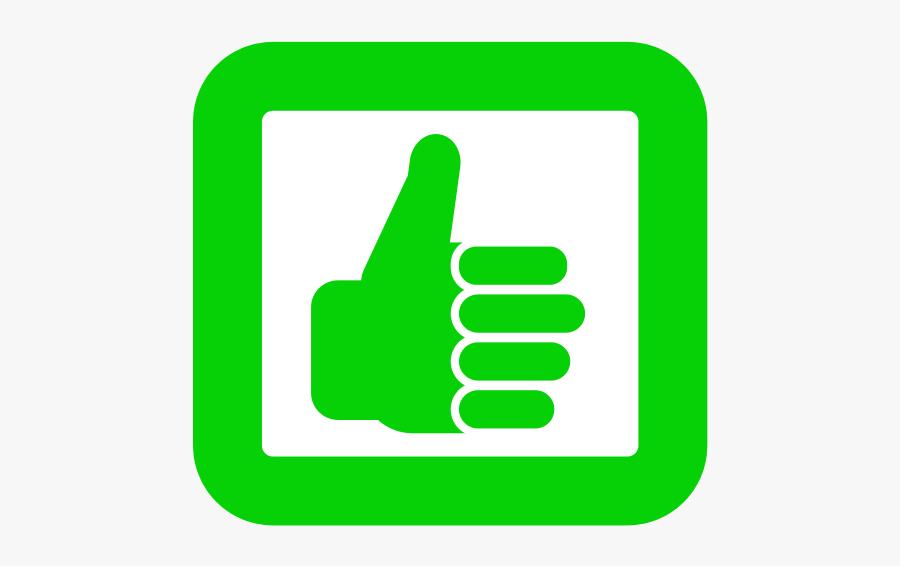 Good - Clip Art Thumbs Up Green, Transparent Clipart