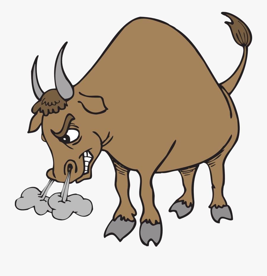 Bull Snorting, Transparent Clipart