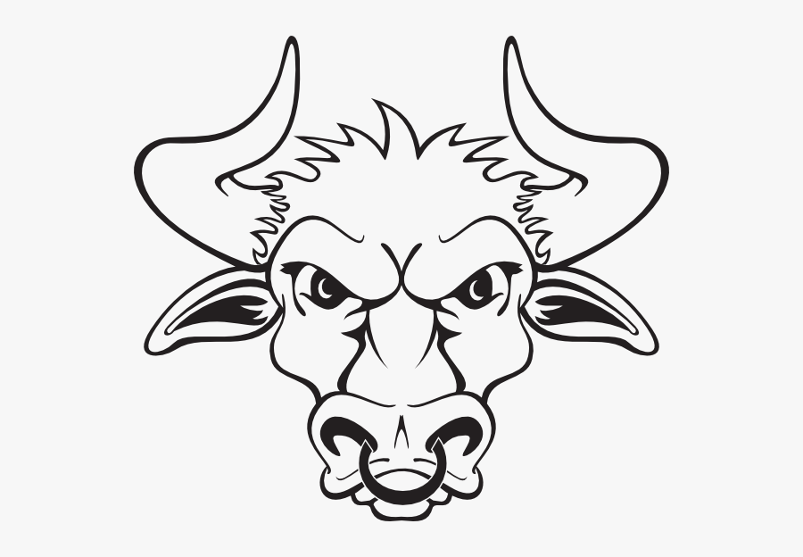 Bull Clip Art - Bull Face Black And White Clipart, Transparent Clipart